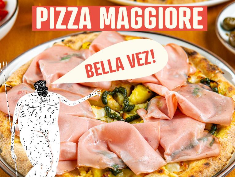 pizza maggiore per Bologna