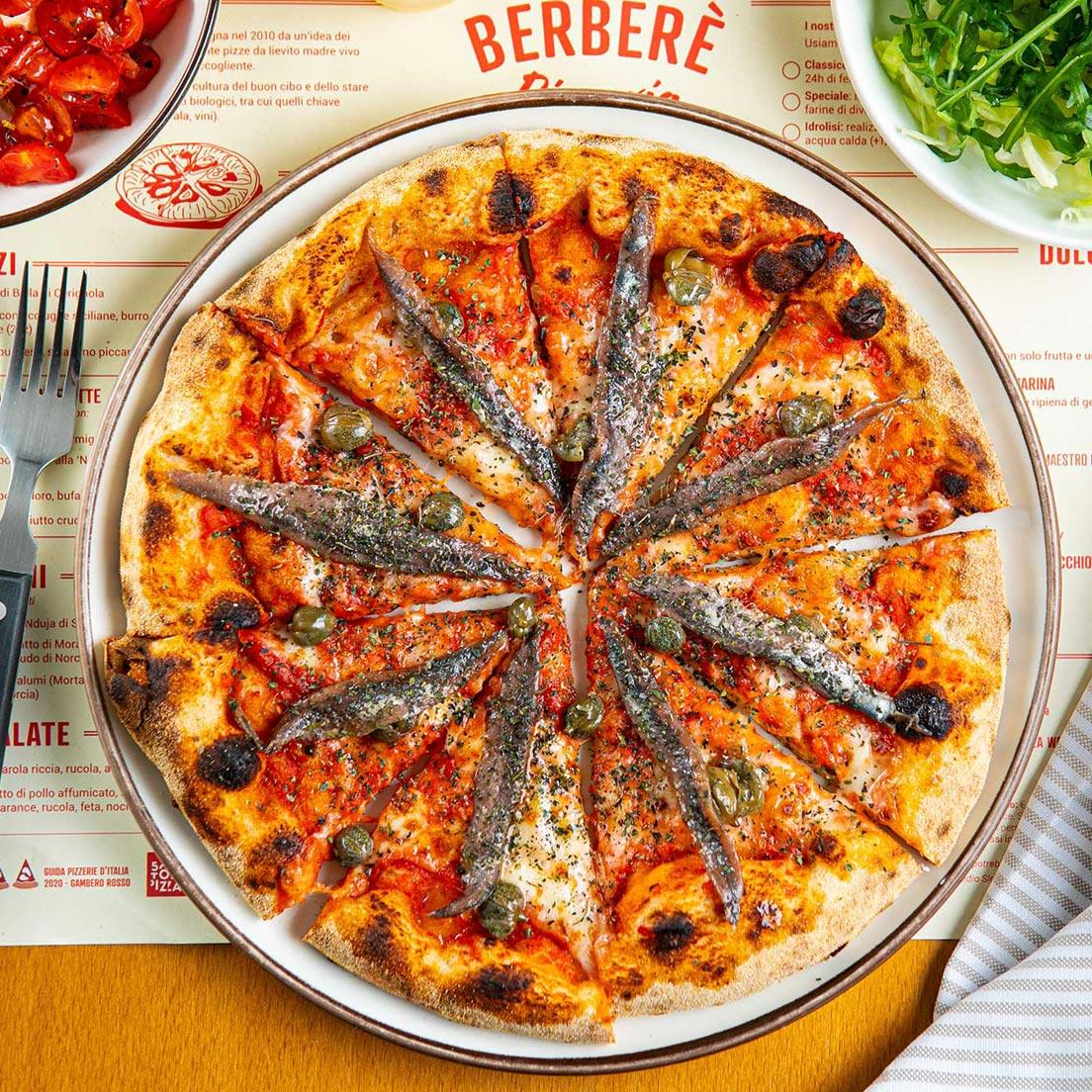 berbere pizza con acciughe